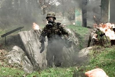Szkolenie w ogniu i dymie