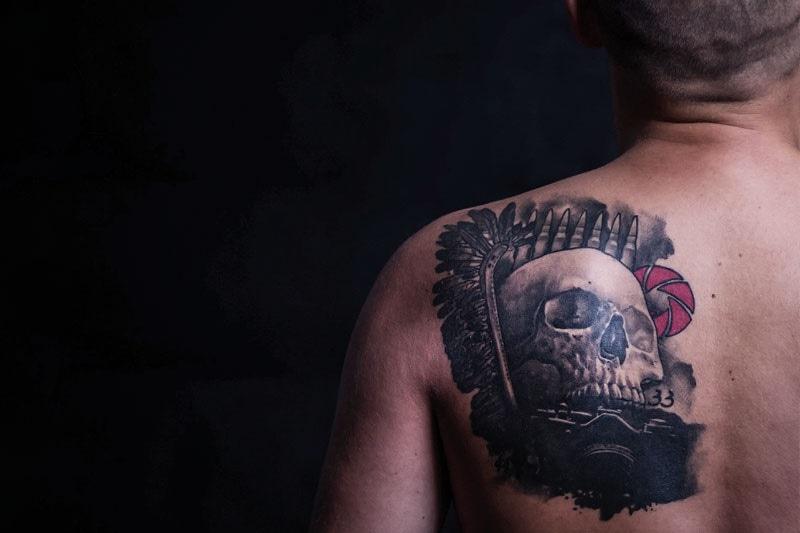 Tatuaż Zdobi żołnierza